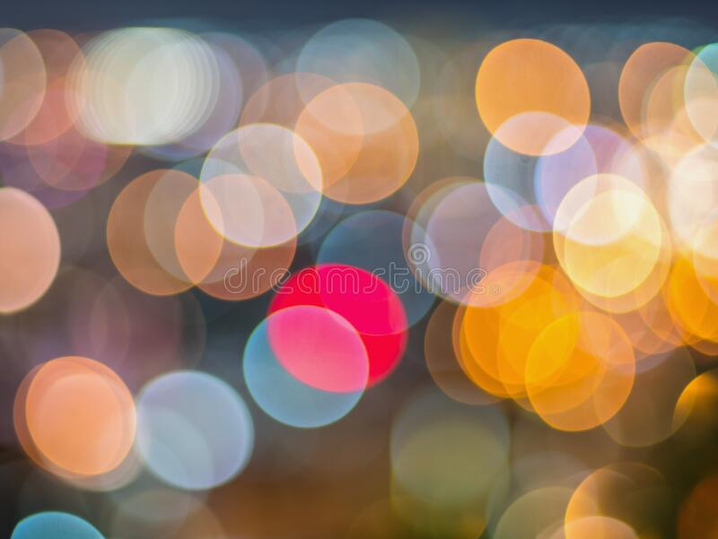 Bokeh background, city lights by the festival.  royalty free stock photo