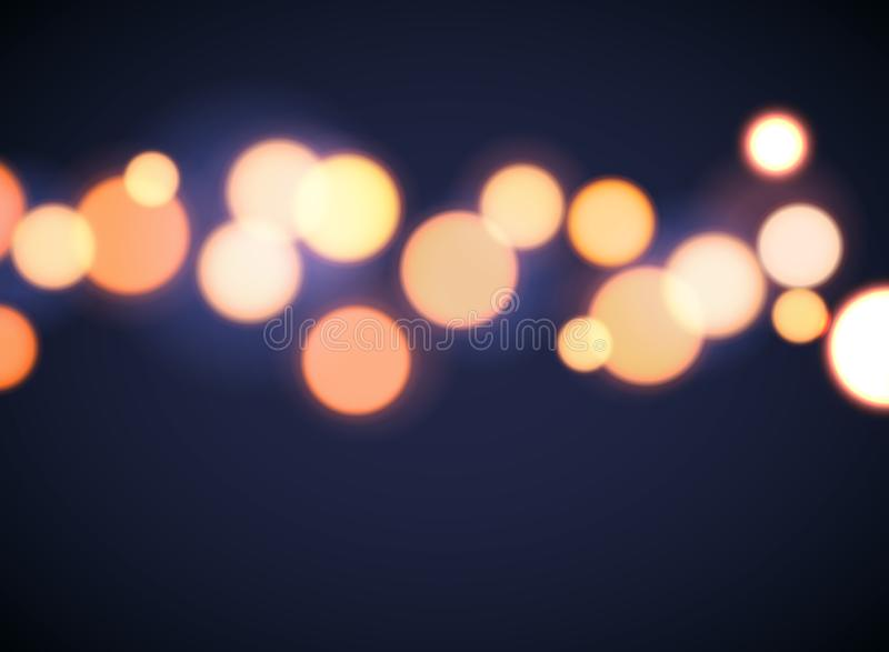 Bokeh background effect circle focus. Abstract vector blur bokeh light yellow soft flare vector illustration