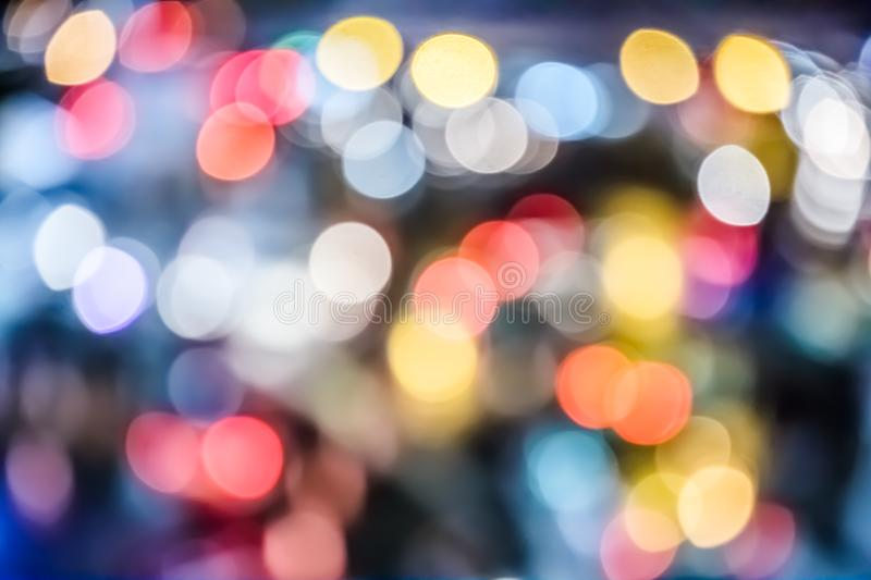 Bokeh background street royalty free stock images