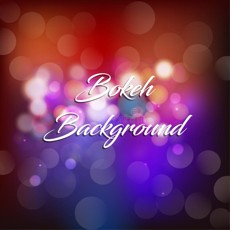 Bokeh background vector illustration, magic & elegant. vector illustration