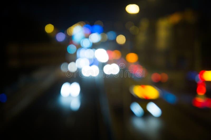 Bokeh bakgrund av trafikljus royaltyfri bild