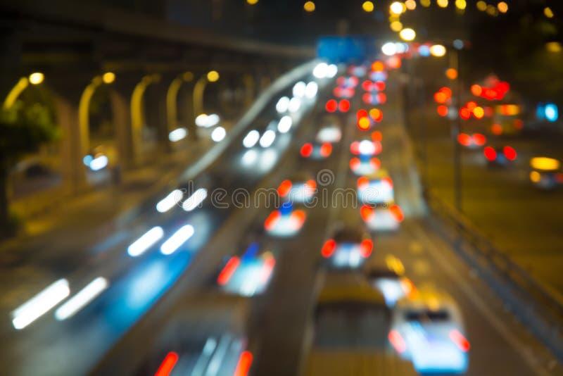 Bokeh bakgrund av trafikljus royaltyfria foton