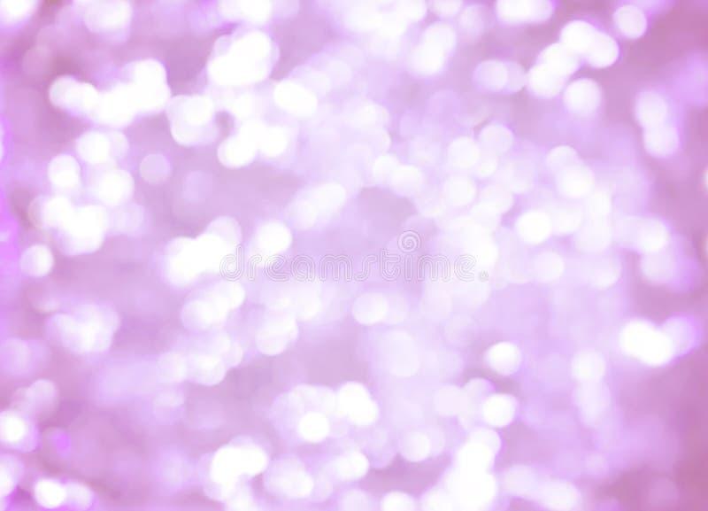 Bokeh beleuchtet Hintergrund, elegante blasse Pastellrosafarben stockbild