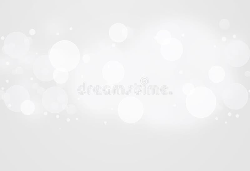 Bokeh bianco astratto illustrazione vettoriale