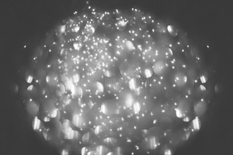 Bokeh in black and white. Black and white bokeh in oval form royalty free stock photography