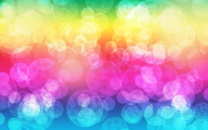 Bokeh-Blasen-Regenbogenhintergrund lizenzfreie stockfotografie