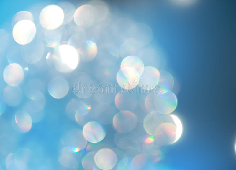 Bokeh.Blur background. Beautiful holidays blue blurred background royalty free illustration
