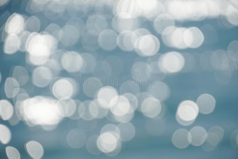 Bokeh blur blue beach sea water wave background. Bokeh blur blue beach sea ocean water wave background stock photography