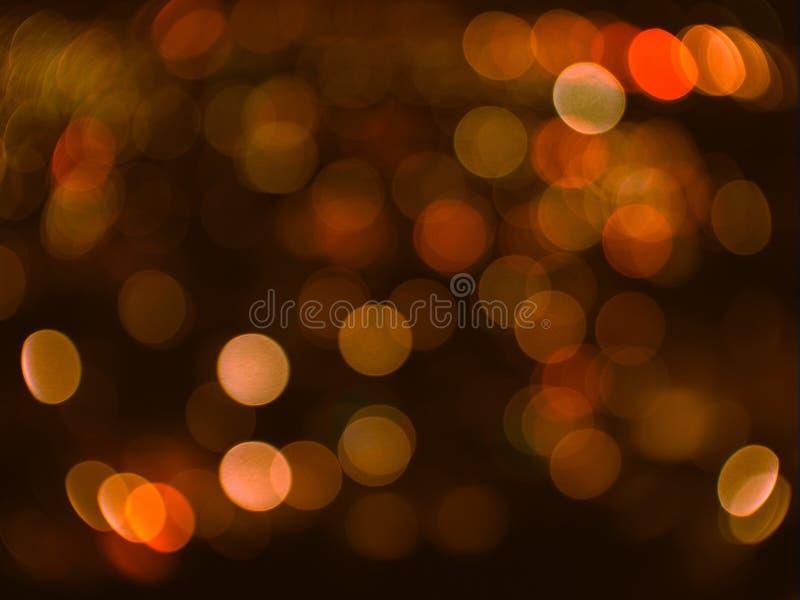 Bokeh blured naranja abstracta foto de archivo