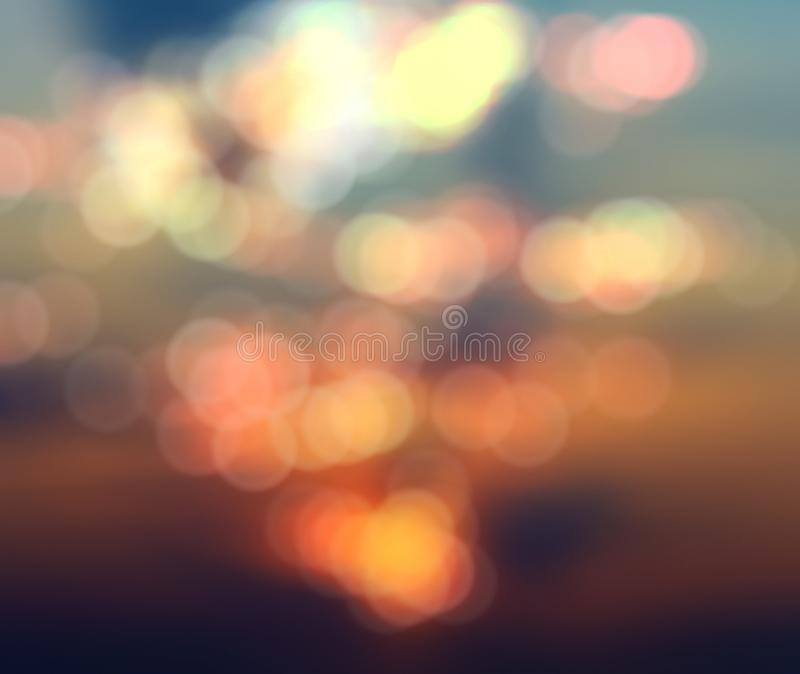 Bokeh blurred abstract background sunset sunrise. Blurry abstract background with bokeh effect, sunset and sunrise royalty free stock images