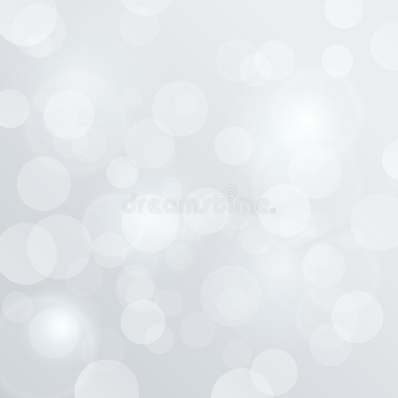 Bokeh Blurred Vector. White Glow Background abstra stock illustration