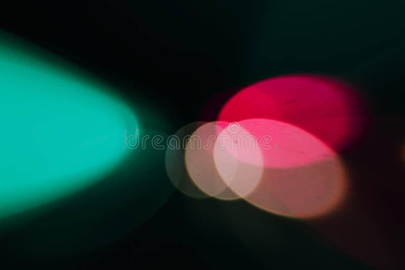 Bokeh blurring urban colours concept. stock photos