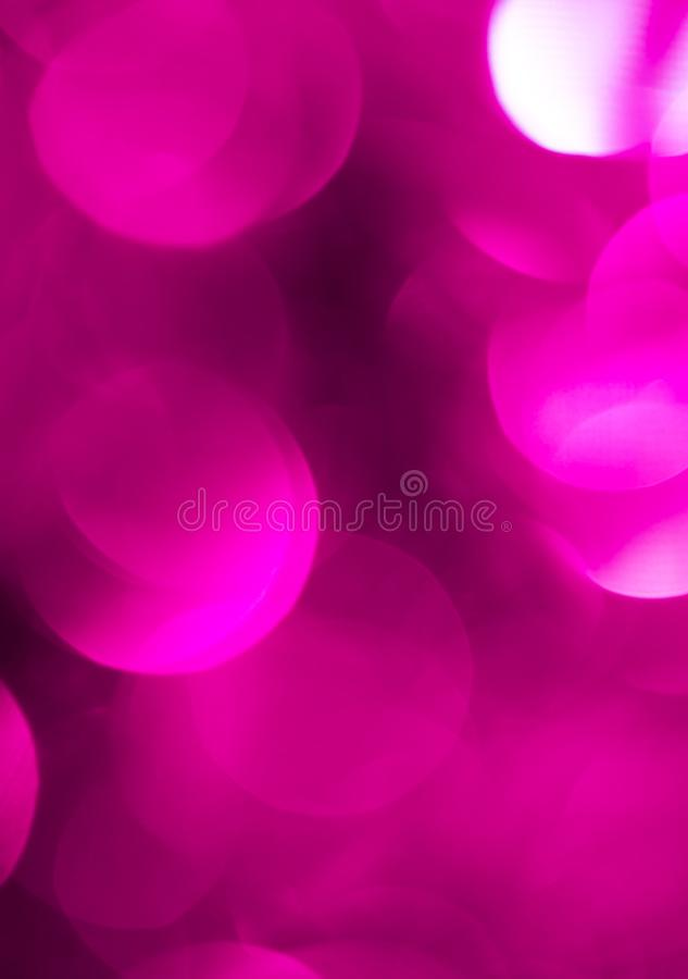 Bokeh bonito do roxo do Natal Fundo fotos de stock royalty free