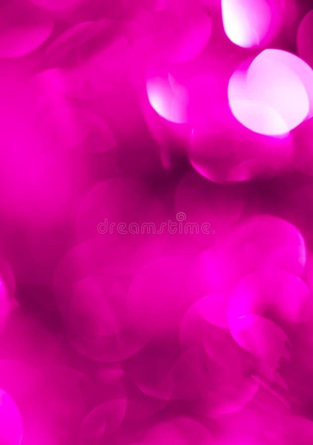Bokeh bonito do roxo do Natal Fundo imagens de stock