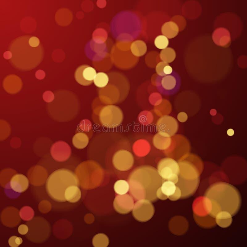 Bokeh borra o fundo abstrato com luzes Fundo do ano novo e do feriado do Natal Ilustração do vetor ilustração royalty free
