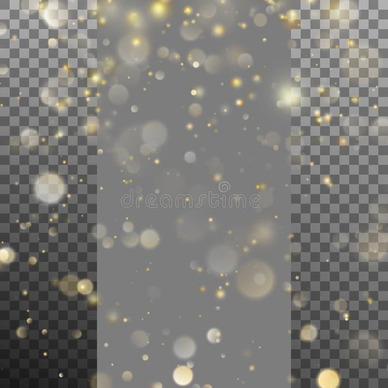 Bokeh borrado de luzes de Natal Vetor do EPS 10 ilustração stock
