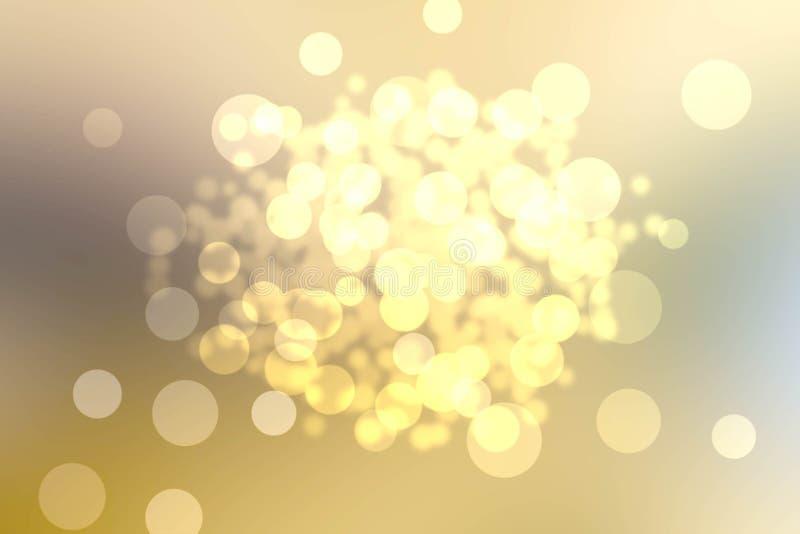 Bokeh borrado dourado do fundo imagem de stock