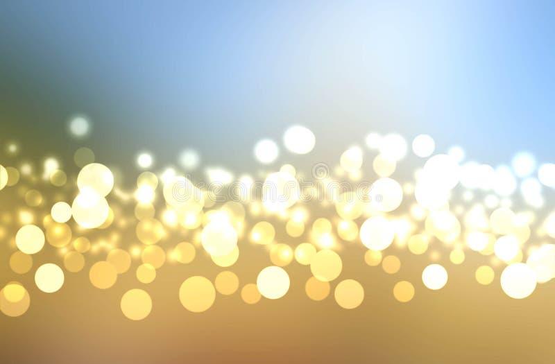 Bokeh borroso de oro del fondo imagen de archivo libre de regalías