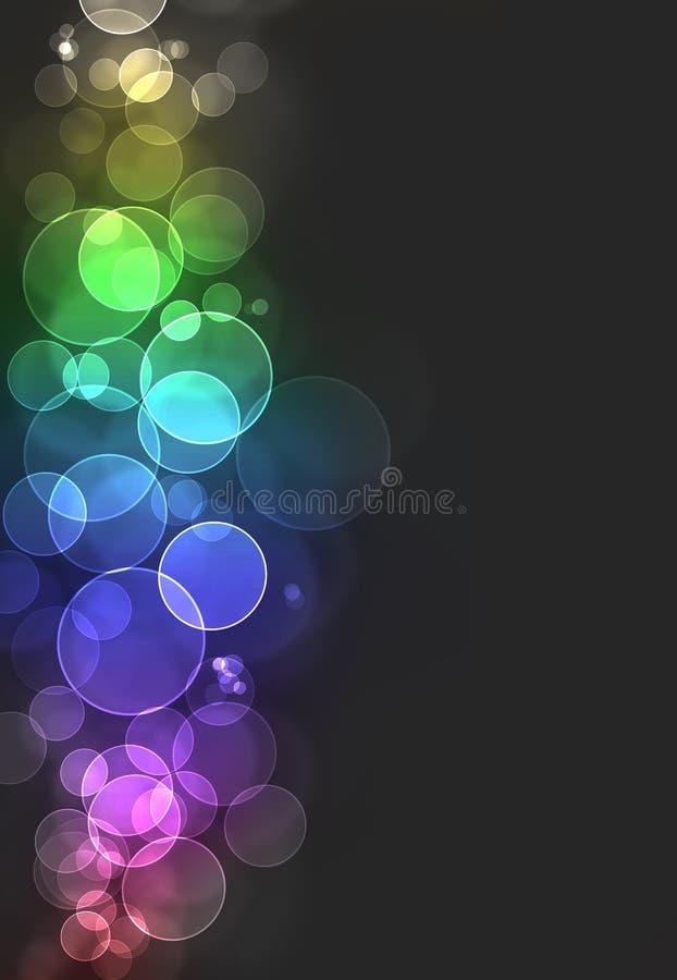 bokeh brast färgrikt vektor illustrationer