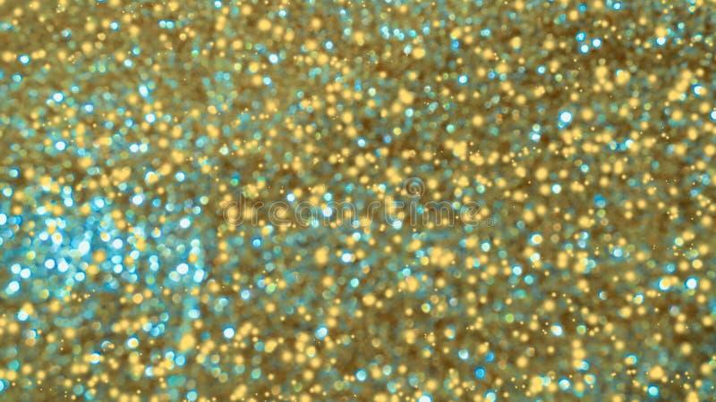 Bokeh brillante de oro del extracto en fondo teñido ligero Fondo que brilla intensamente con el estilo del bokeh para los saludos fotos de archivo libres de regalías