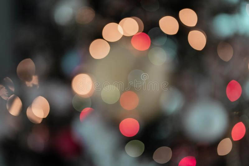 Bokeh brouillé allume la couleur multi image libre de droits