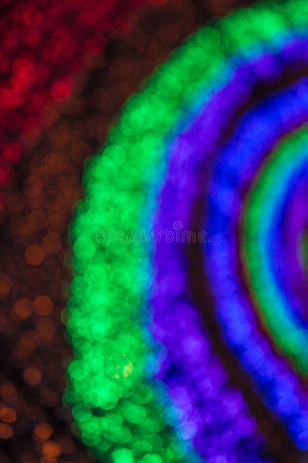 Bokeh brouillé par lumière colorée photo libre de droits