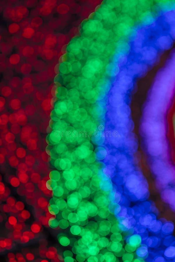 Bokeh brouillé par lumière colorée image stock