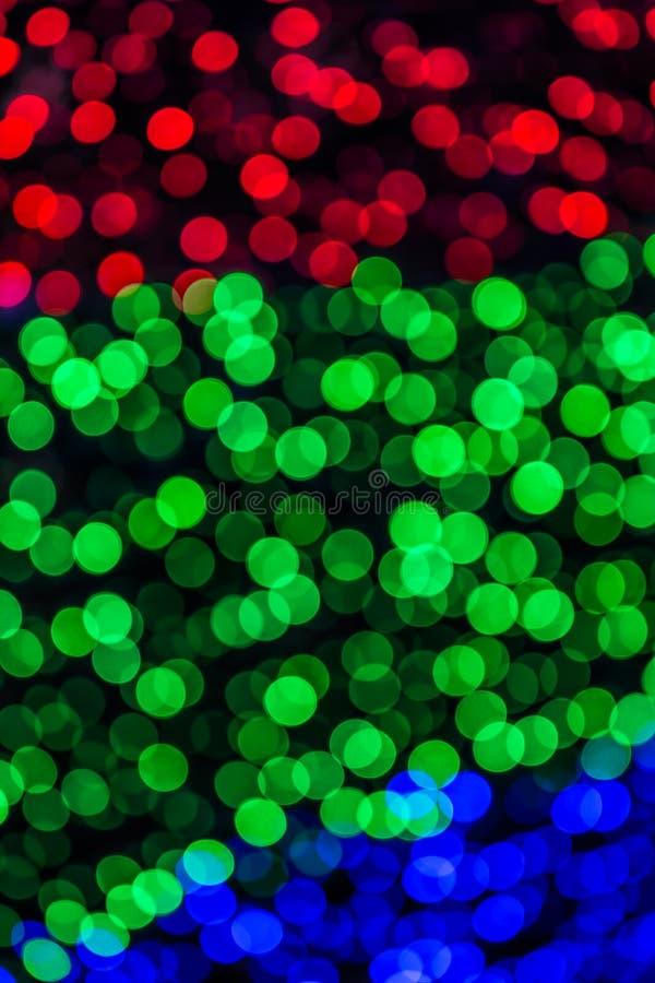 Bokeh brouillé par lumière colorée photographie stock
