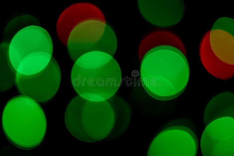 Bokeh brouillé par lumière colorée images stock