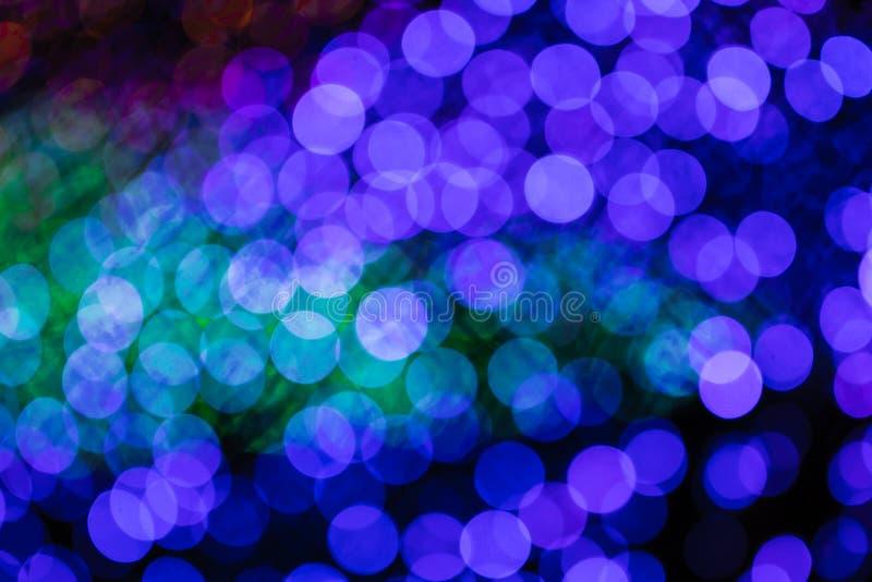 Bokeh brouillé par lumière colorée photo stock