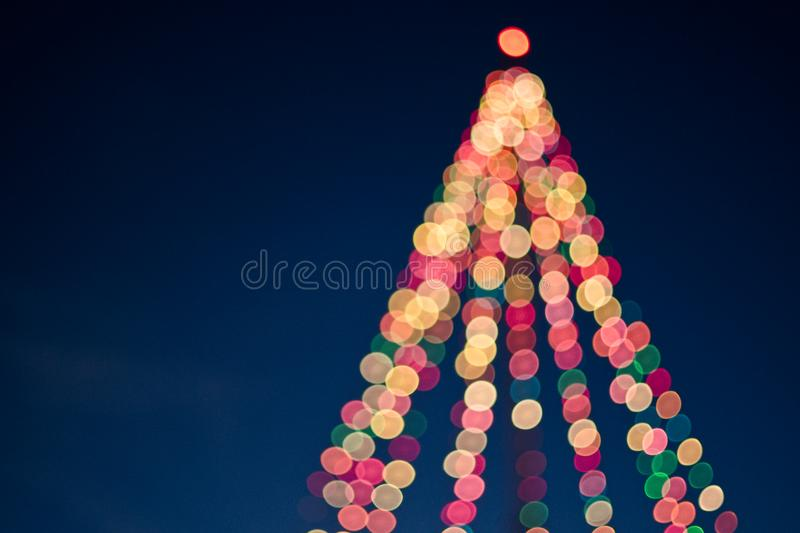 Bokeh Christmas lights stock photography