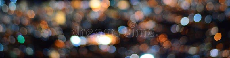 Bokeh circular de la falta de definición abstracta de la luz de la ciudad en la noche fotografía de archivo