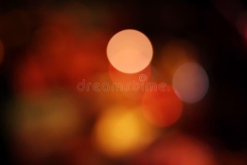 Bokeh coloré léger de nuit, fond abstrait photographie stock