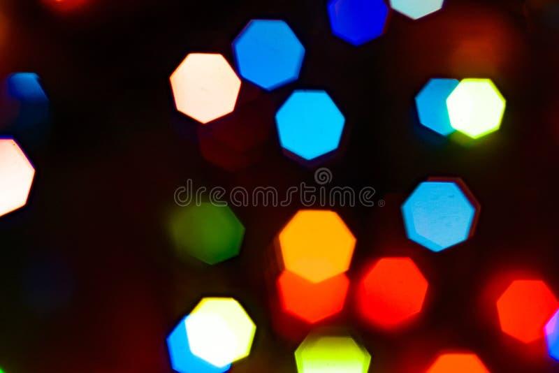 Bokeh a coloré le fond de lumières images libres de droits