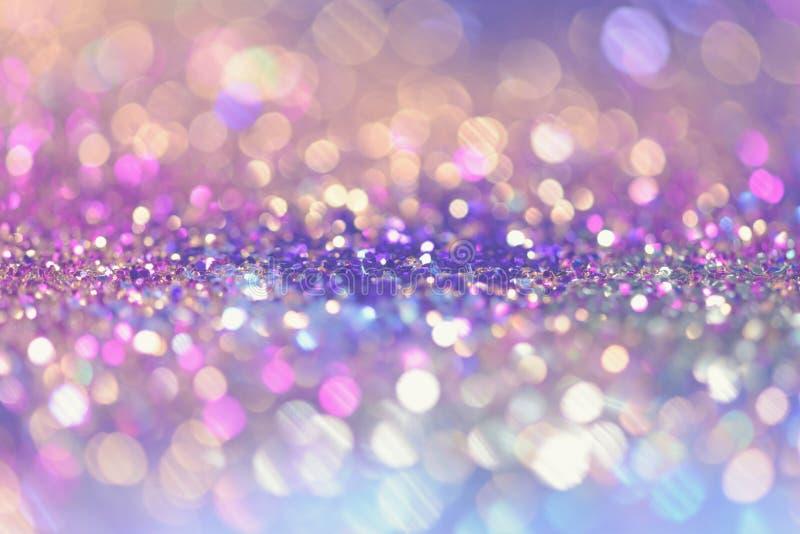 bokeh Colorfull Zamazywał abstrakcjonistycznego tło dla urodziny, rocznicy, ślubu, nowy rok wigilii lub bożych narodzeń, obrazy royalty free