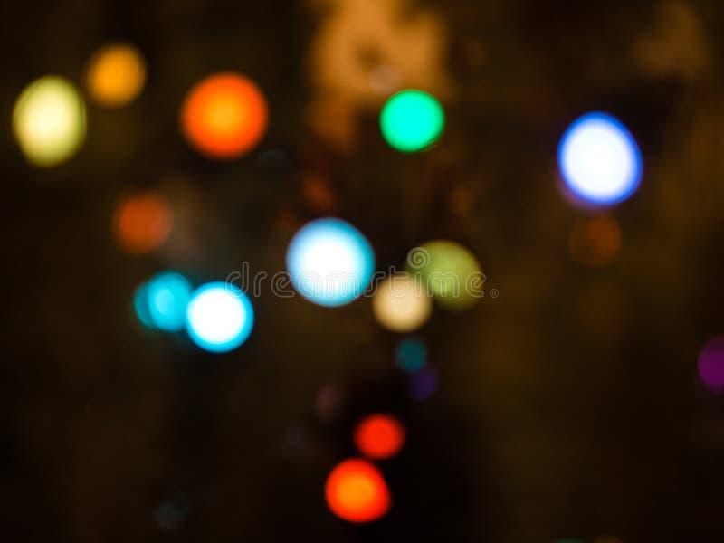 Bokeh colorido Bokeh colorido abstracto Unfocused en fondo negro defocused y empa?ado muchos alrededor de luz fotografía de archivo libre de regalías