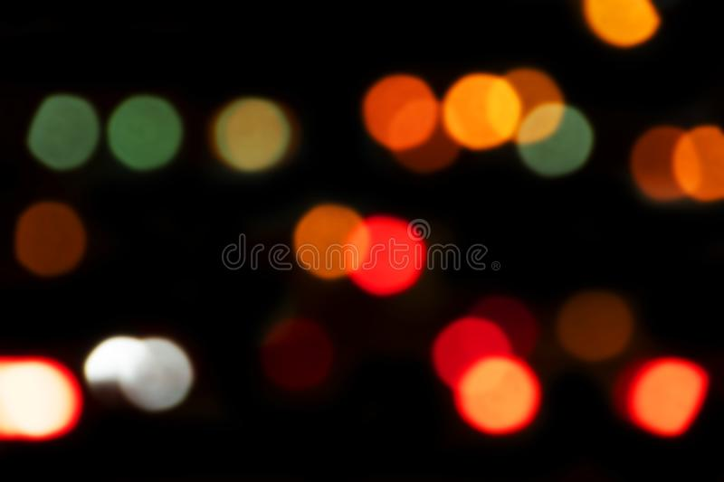 Bokeh com multi cores Fundo festivo do bokeh das luzes luzes defocused do bokeh Bokeh borrado Fundo do vintage da luz de Bokeh A fotos de stock royalty free