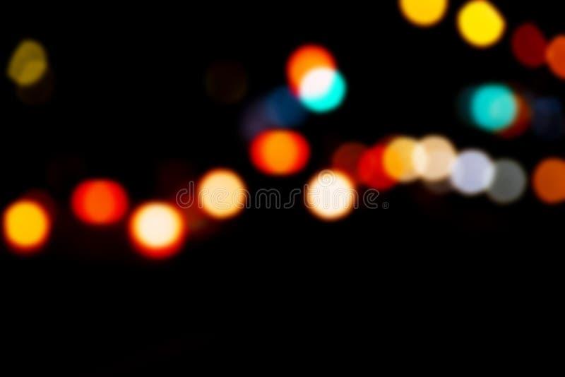 Bokeh con colores multi Fondo festivo del bokeh de las luces luces defocused del bokeh Bokeh borroso Fondo del vintage de la luz  imagen de archivo libre de regalías