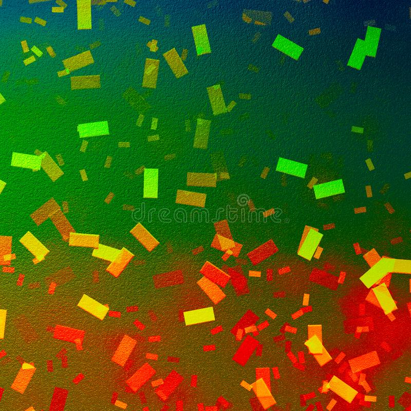 Bokeh confetti background. Canvas texture paper background. Vibrant confetti falling for party themes. Good for: wallpaper, art sheet, poster, cards, decor stock image