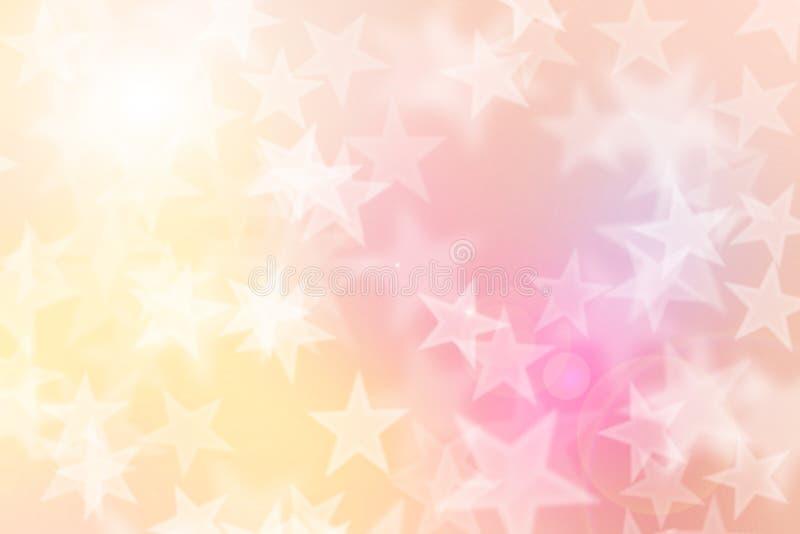 Bokeh d'étoile sur le fond coloré photo stock