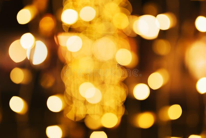 Bokeh da decoração da luz do Natal e de rua do ano novo fotos de stock royalty free