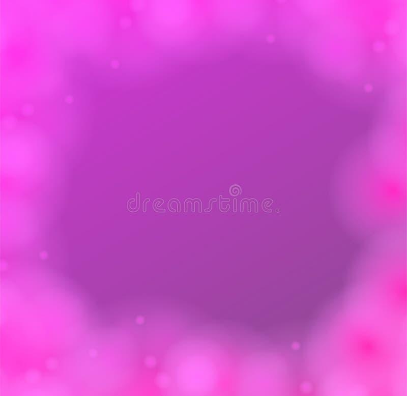 Bokeh da luz do sumário do fundo do borrão Inclinação moderno do vetor da cor brilhante Conceito de projeto colorido da ilustraçã ilustração royalty free