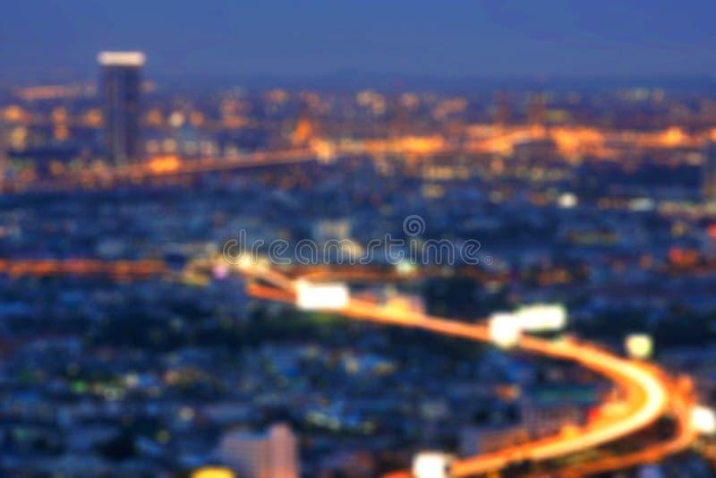 Bokeh das construções, cidade de Banguecoque, Tailândia imagem de stock royalty free