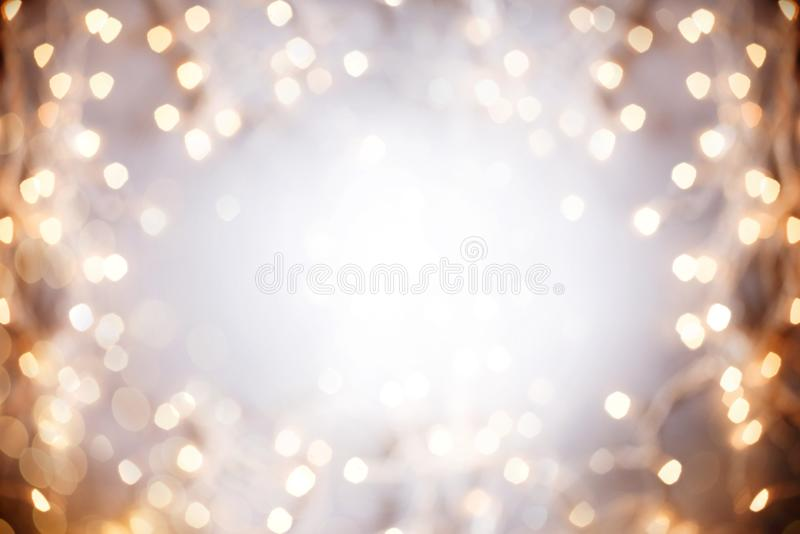 Bokeh das luzes de Natal fotografia de stock