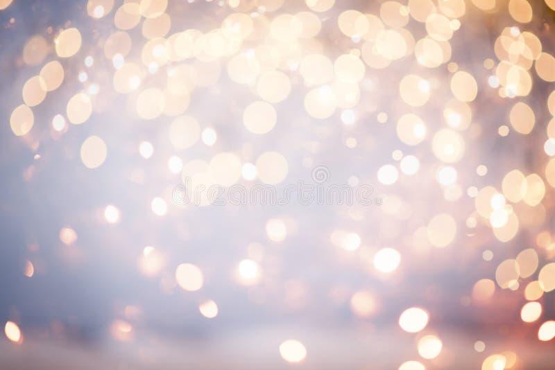 Bokeh das luzes de Natal imagens de stock