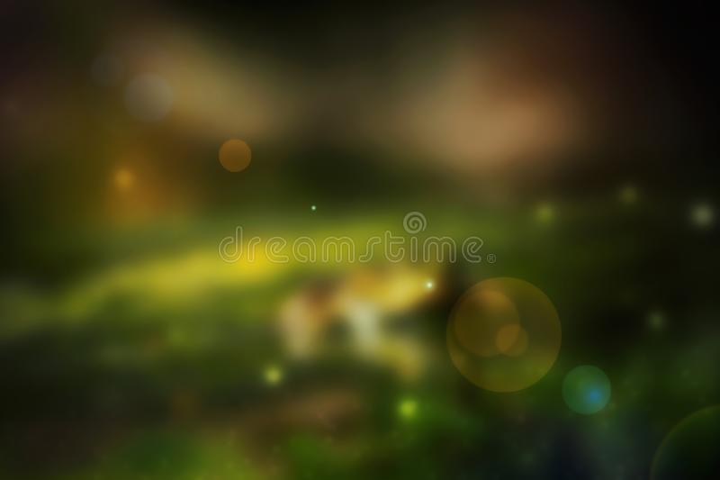 Bokeh das luzes no fundo preto - imagem ilustração stock