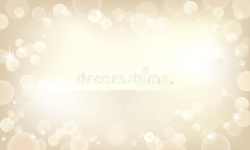 Bokeh de Champagne illustration stock
