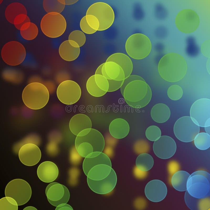 Bokeh de Colorfull sur le fond abstrait photographie stock