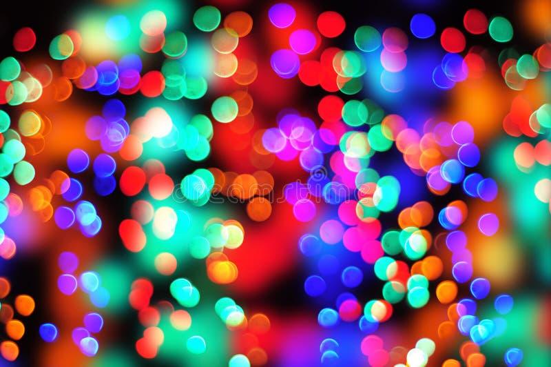 Bokeh de couleur de Noël photographie stock