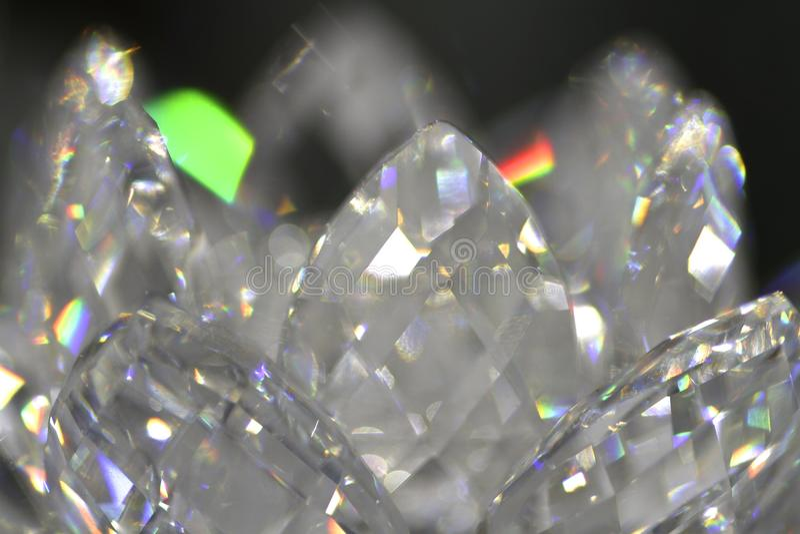 Bokeh de cristal fotografia de stock